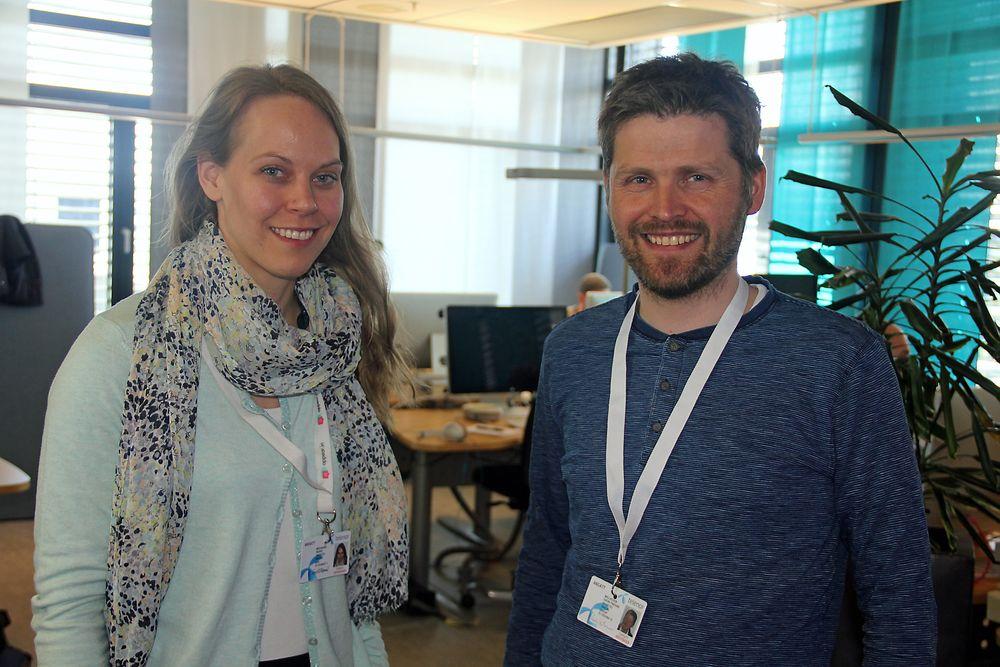 SKAL FENGE MASSENE: Ingrid Ødegaard og Svein Yngvar Willassen i appear.in mener at videokonferansetjenesten har potensial til å oppnå svært høye brukertall, med særlig unge mennesker i målgruppen.