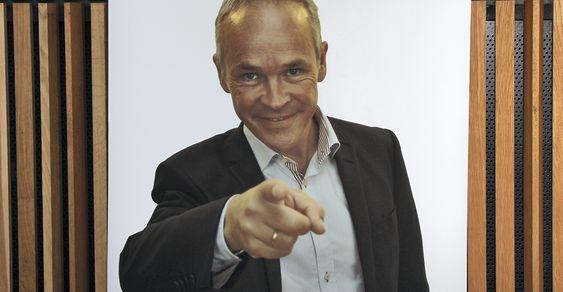 Skilt med Jan Tore Sanner.