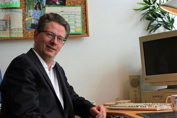 John Henrik Andersen i Microsoft Norge i 25 år gammelt kontormiljø.