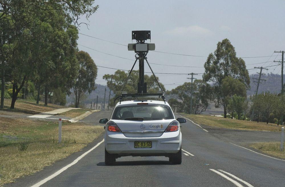 Det er uklart hvordan Apples foto-kjøretøyer ser ut. Bildet over viser egentlig en av Googles Street View-biler i Australia.