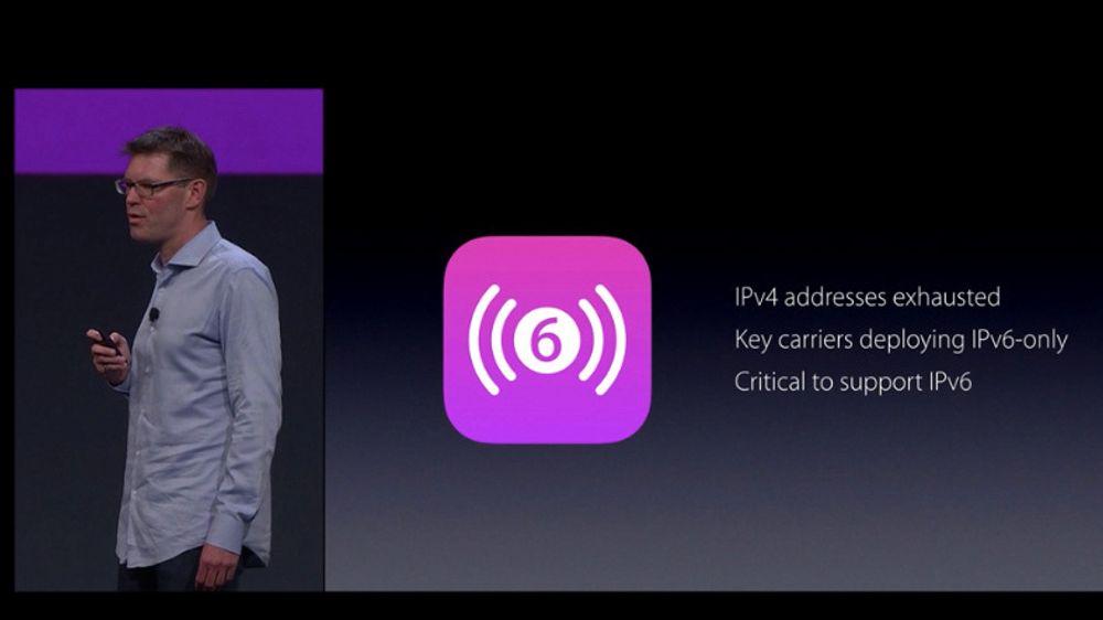 Apples Sebastian Marineau fortalte om krav til IPv6-støtte i nye iOS-apper under WWDC 2015.