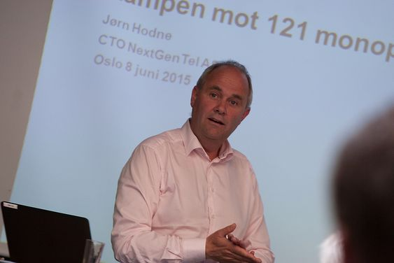 Jørn Hodne, teknologidirektør (CTO) i NextGenTel snakker om kampen mot 121 monopoler.