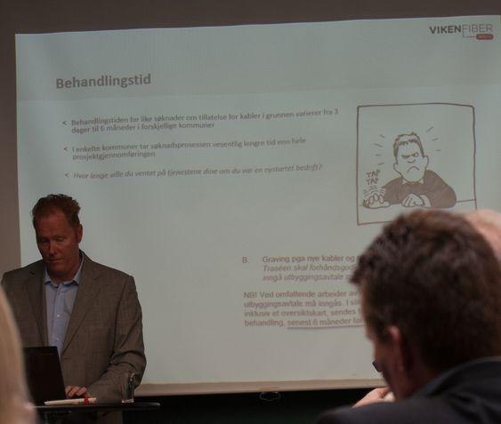 LANG TID: Stian Berg er direktør plan og utbygging i Viken Fiber. Han fortviler over at tregt byråkrati bremser utbygging av bredbånd.