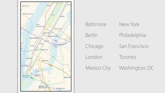 Apple Maps får endelig støtte for kollektivtransport, men kun i noen få byer til å begynne med.