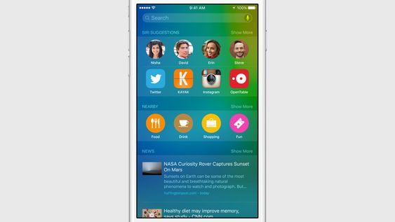 Siri vil foreslå apper, kontakter og annet innhold i iOS 9.