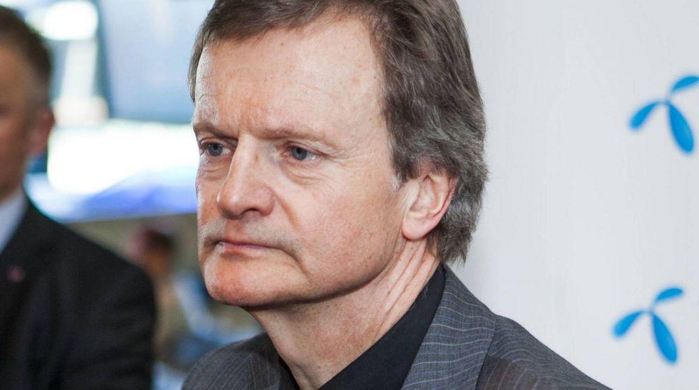 Avtroppende konsernsjef Jon Fredrik Baksaas i Telenor.