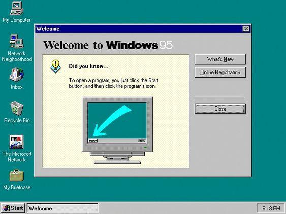 Windows 95 oppstartsskjerm