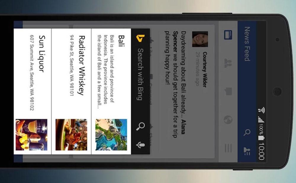 Nye Bing kan vise ekstrainformasjon basert på tredjepartskilder direkte på skjermen.