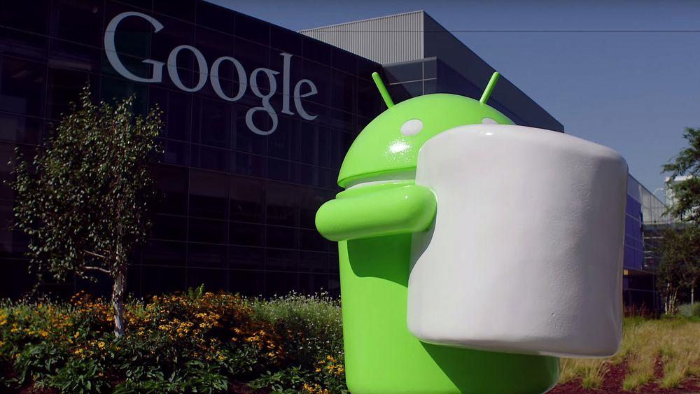 Android Marshmallow-statuen er nå på plass utenfor Googles hovedkvarter i Mountain View.