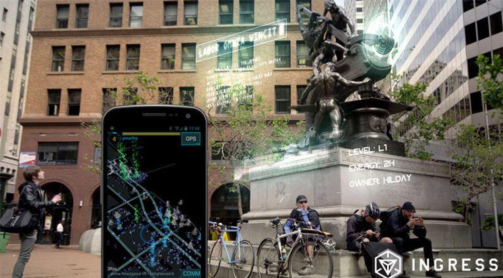 Ingress-spillet får folk til å farte rundt i den fysiske verden ved hjelp av blant annet utvidet virkelighet.