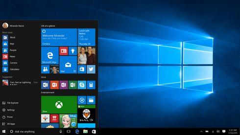 Windows 10 rykker stadig nærmere