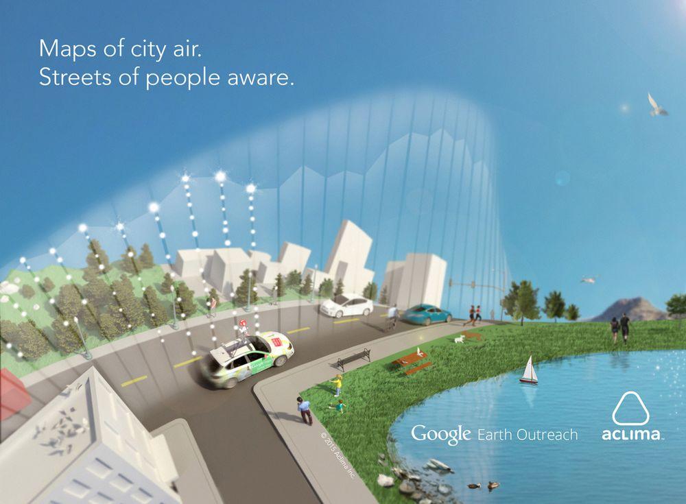 Til høsten begynner Google og Aclima å samle inn data om luftkvaliteten i San Francisco-området.
