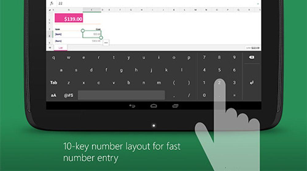 Eget Excel-tastatur er blant de nye appene.