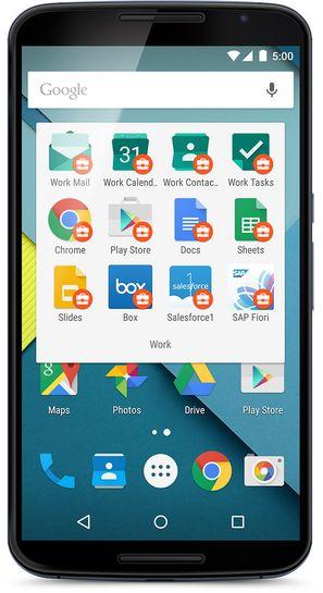 SEPARAT: Android for Work skal gjøre Android enda mer aktuell på arbeidsplassen. Adskilte apper, her symbolisert med koffert-ikoner, skal sørge for å ivareta bedriftes behov.