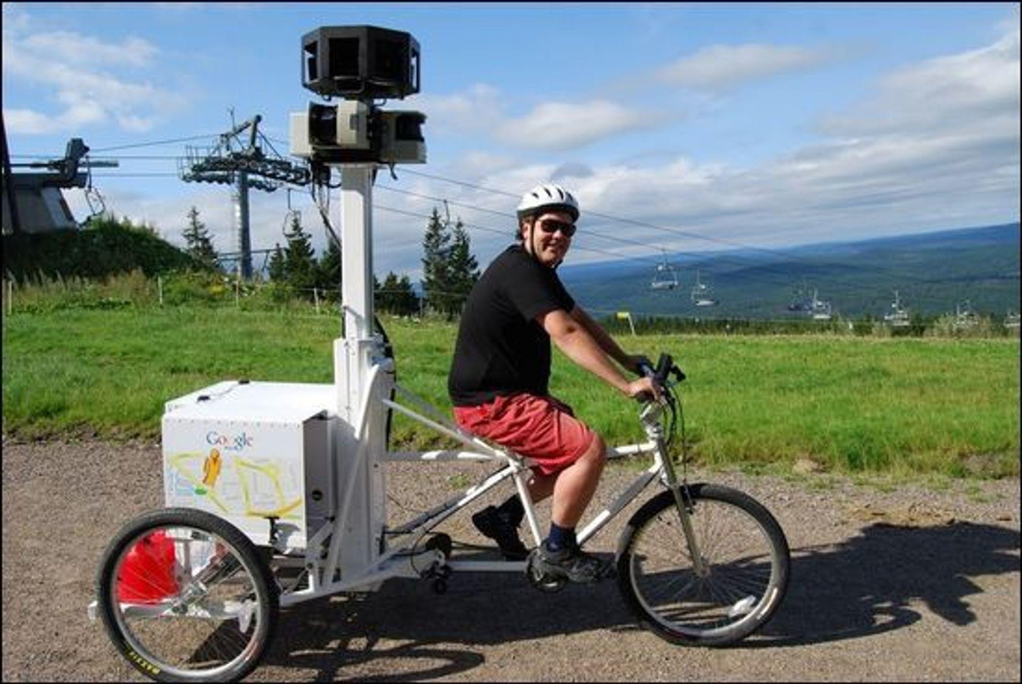 I 2010 syklet Google-ansatte rundt med dette utstyrt i Nordmarka i Oslo.