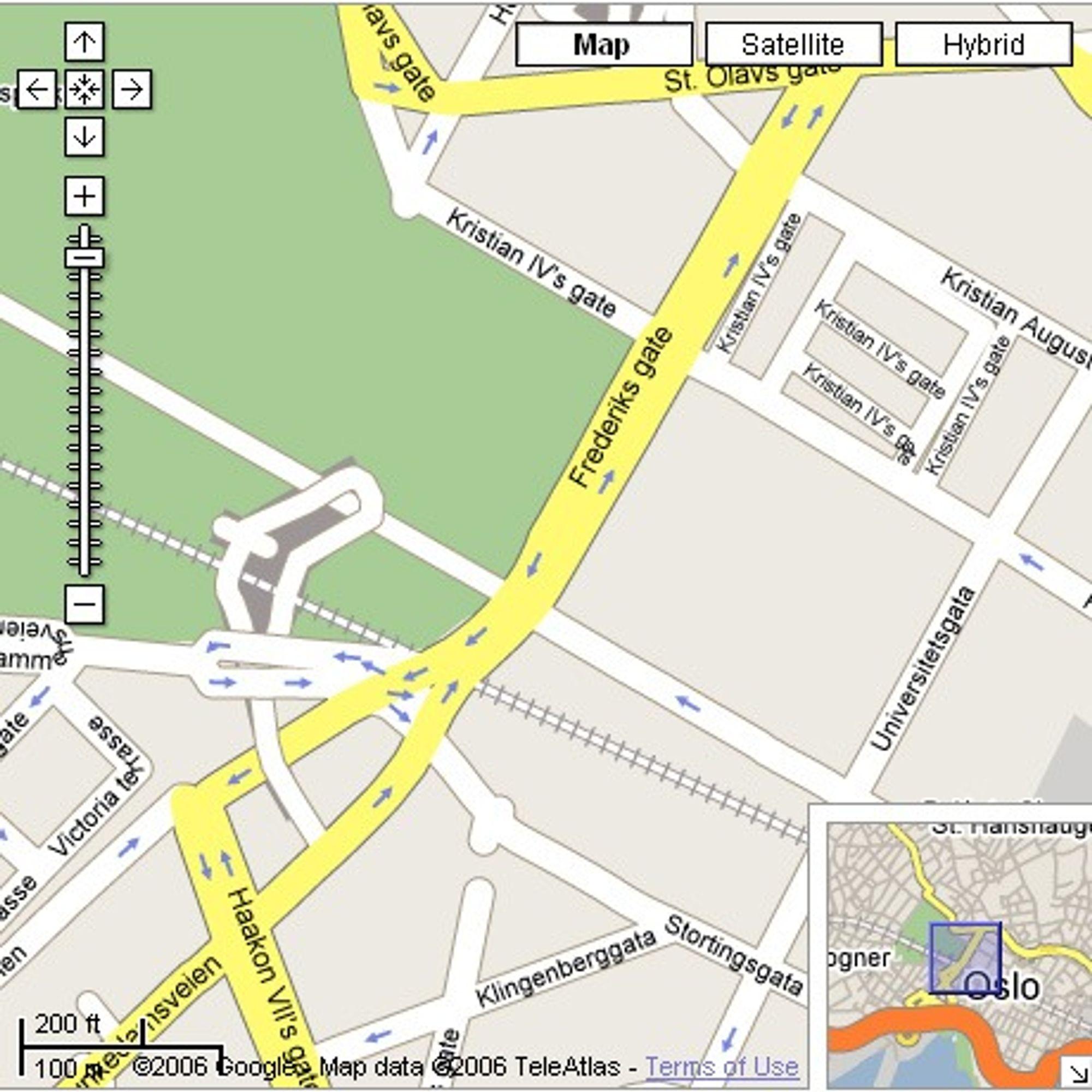 Google Maps med kartdata fra 2006.