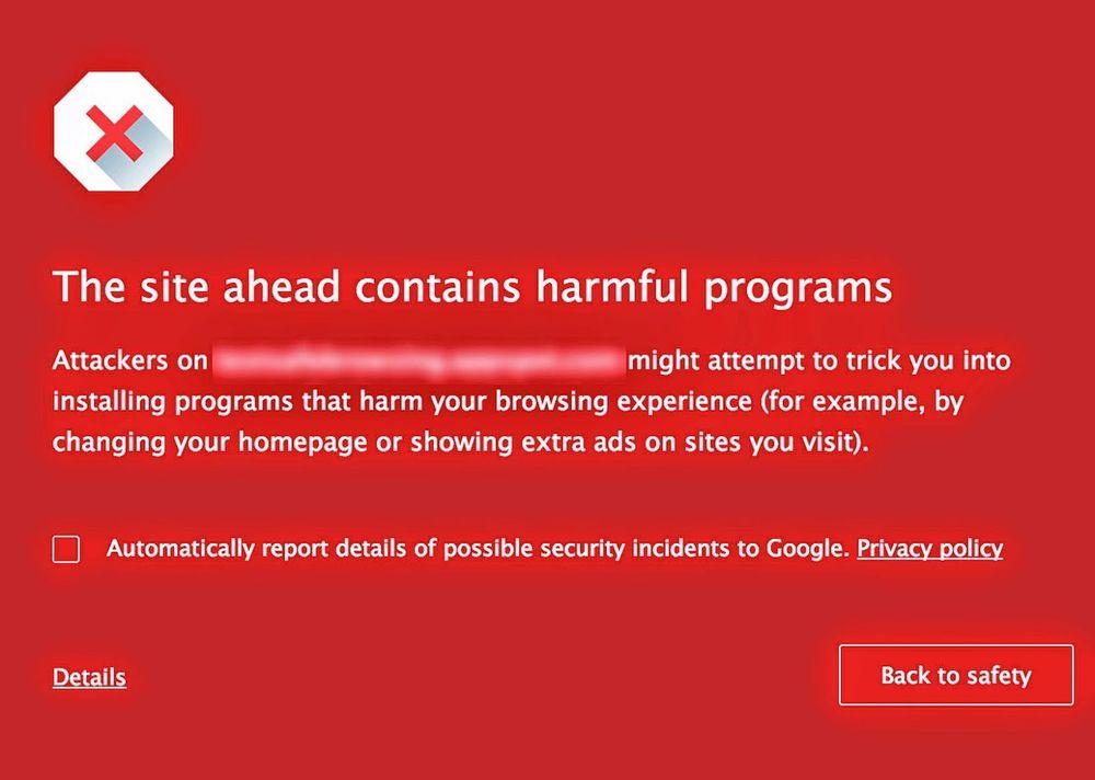 Dette er advarselen Chrome-brukerne vil se.