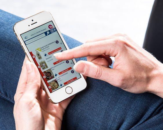 Navigasjon med smartmobil hos Carrefour