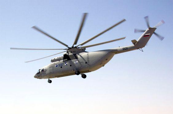 Mi-26T2-prototypen ble vist fra på det russiske forsvarsdepartementets innovasjonsdag i Moskva i august i fjor.
