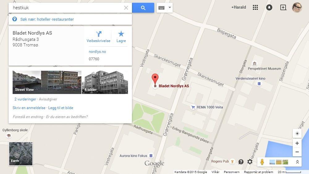 Innhold fra andre steder på weben fører til uønskede søkeresultater i Google Maps.