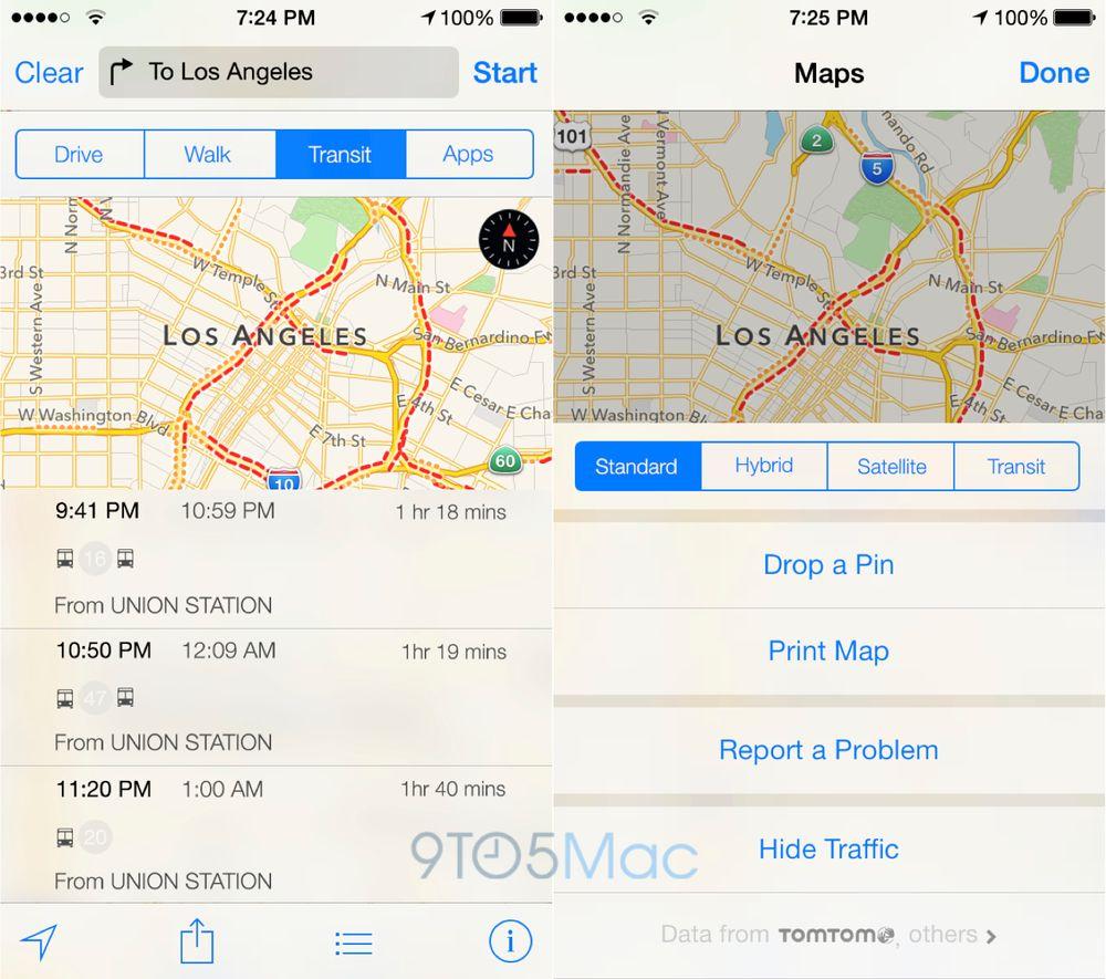 Ruteopplysninger kommer til Apple Kart. Det inkluderer også norske rutetider.