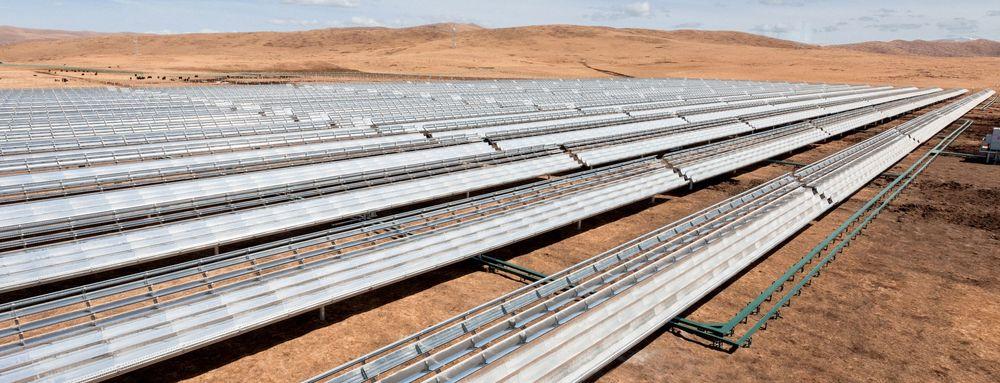En av Apples eksisterende solenergi-prosjekter i Hongyuan, Kina.
