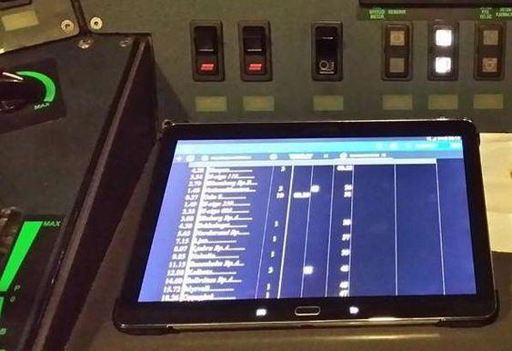 Nettbrett hos togfører, Fido-systemet.