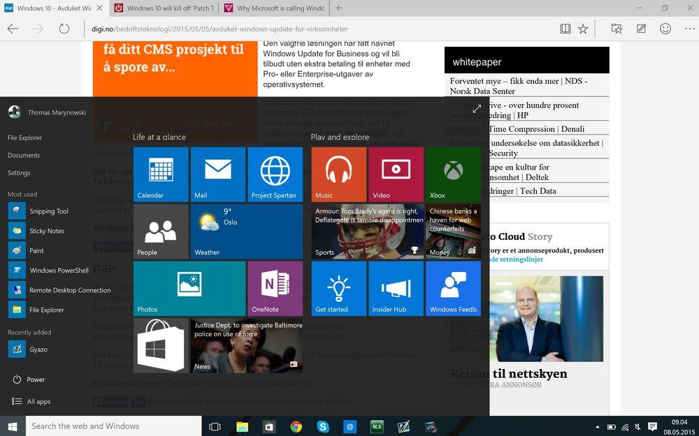 Windows 10 vil finnes i flere forskjellige utgaver for privatpersoner, bedrifter, skoler og lignende.