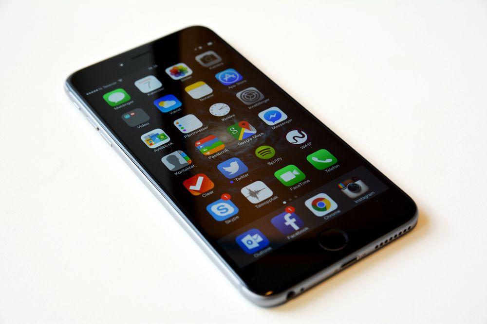iPhone-forfalskninger florerer i Kina og produseres på profesjonelle fabrikker. På bildet: En ekte iPhone.