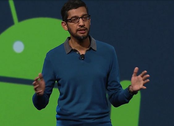 Sundar Pichai under Google I/O 2015
