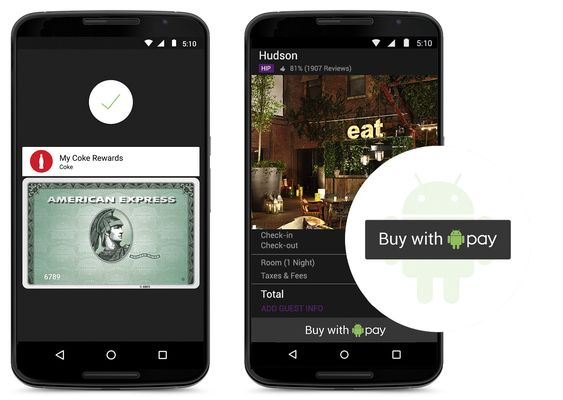 Android Pay bakes direkte inn i det nye operativsystemet.