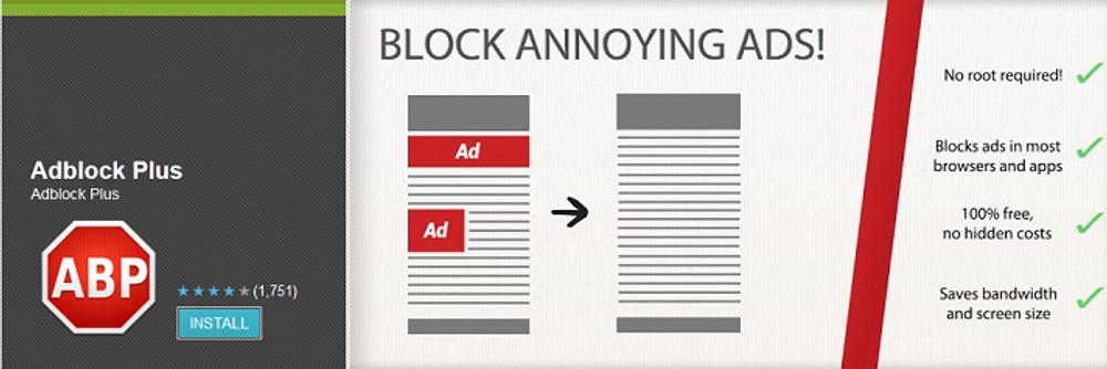Slik fremstod Adblock Plus da det var tilgjengelig som en utvidelse for andre nettlesere. Nå kommer de med en egen nettleser.