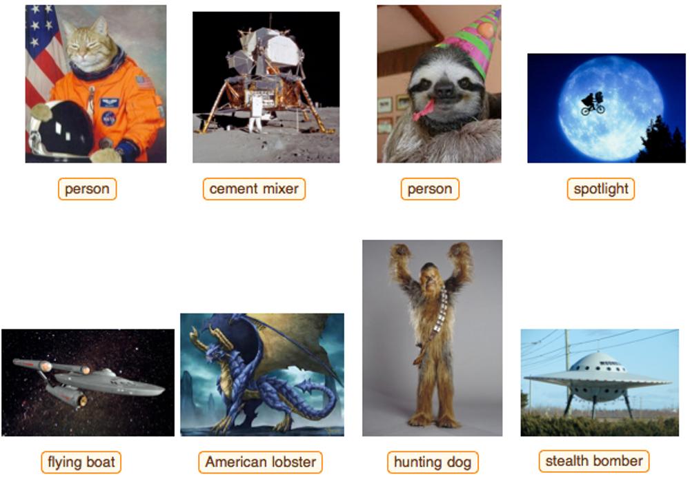 Stephen Wolfram testen teknologien med uventede bilder, og han innrømmer selv at det finnes svakheter. Verktøyet vil imidlertid utvikle seg selv videre desto mer det brukes. Den hårete wookieen fra Star Wars-universet ble identifisert som «hunting dog».
