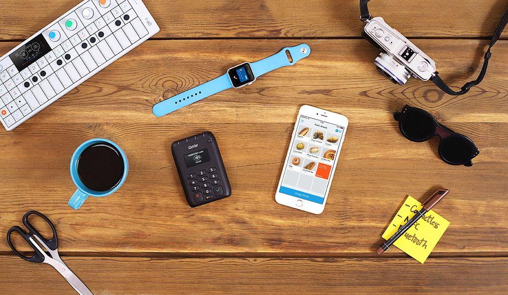 iZettle legger spesiell vekt på at selskapets nye kortlesere fungerer sammen med Apple Pay og Watch.