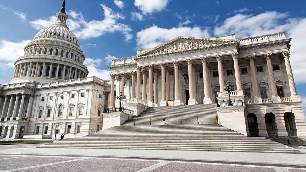 THE HILL: (fra v.) Den amerikanske Kongressen ligger vegg i vegg med USAs høyesterett.