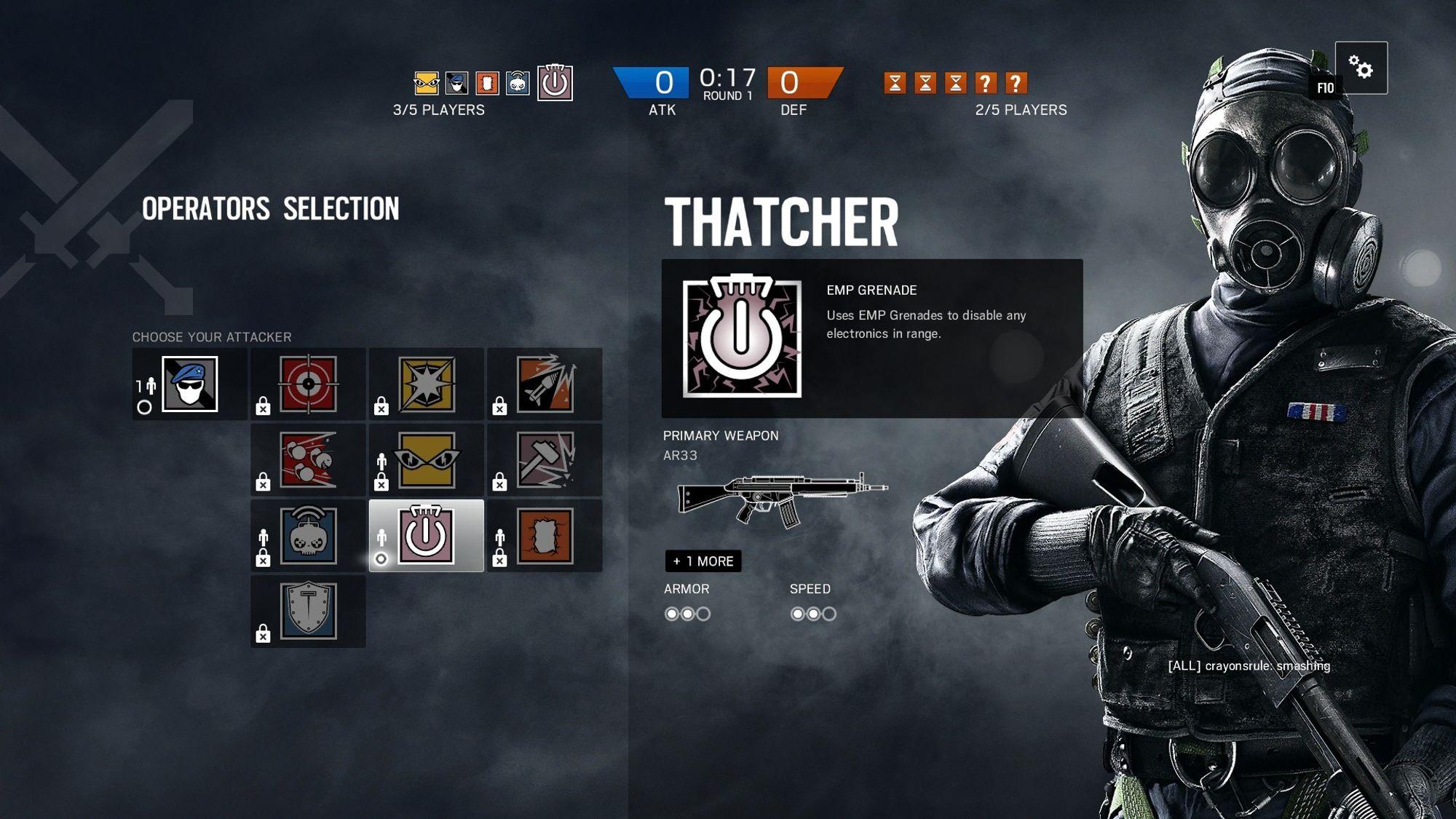 """""""Thatcher"""" er en av agentene man kan låse opp. Alle kommer de med egne emblemer."""