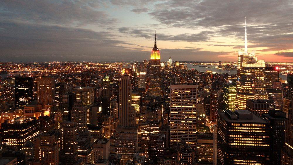 New York om natten.