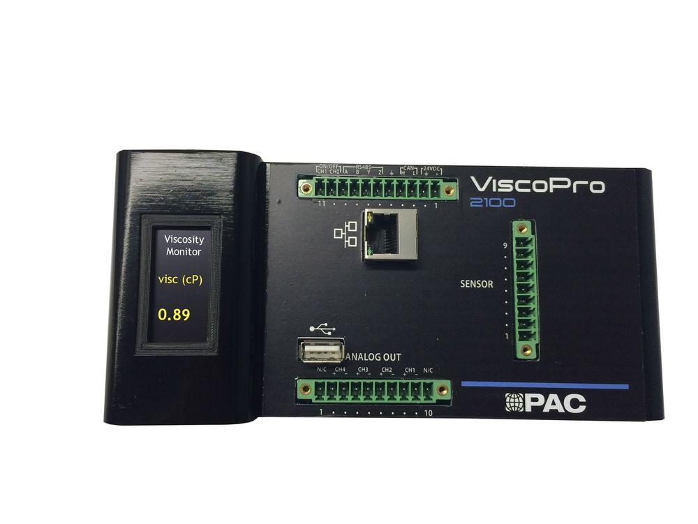 PAC ViscoPro 2100  måler viskositet, leveres av InLine Prosess.