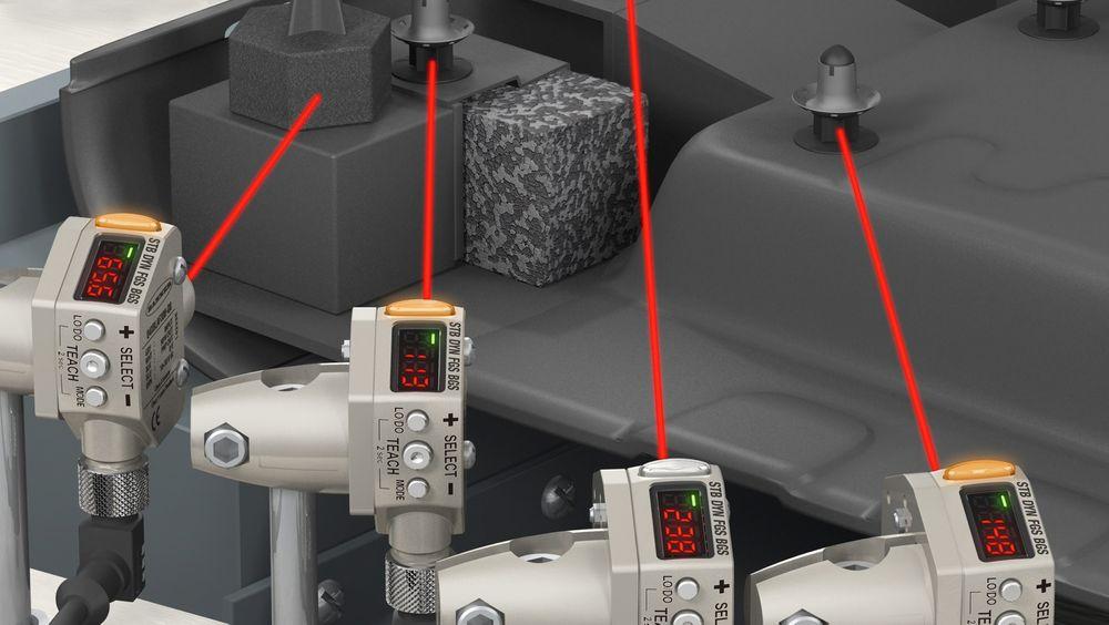 Q4X laseravstandssensor fra Banner Engineering.
