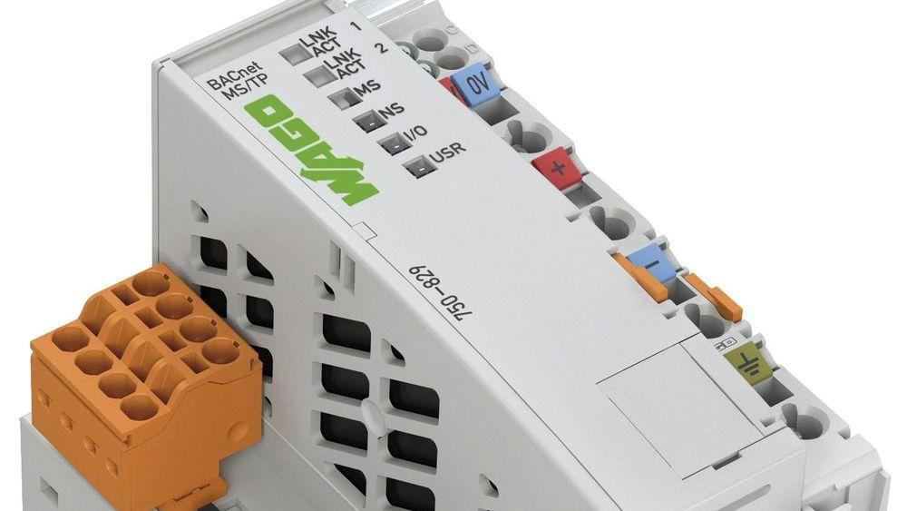 WAGOs nye kontroller 750–829 kommuniserer BACnet MS/TP via RS-485 klassisk tvinnet trådpar