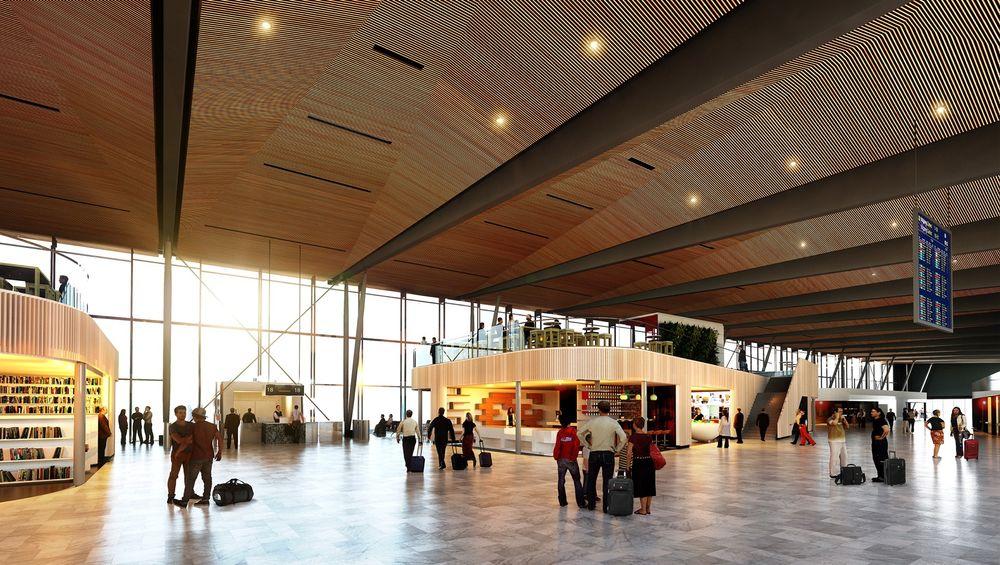 Den nye terminalen på Flesland.