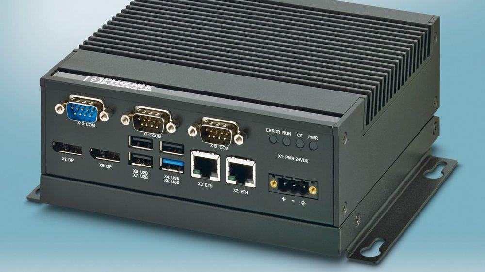 Basicline 2000 fra Phoenix Contact, firekjernes prosessor og vifteløs.