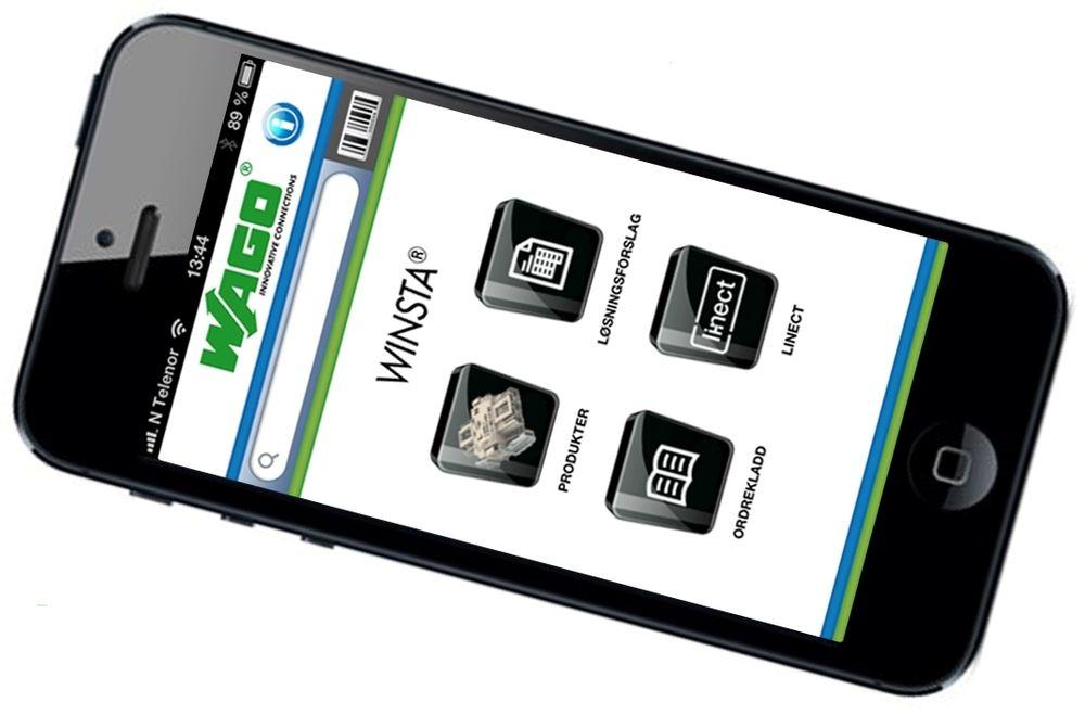 Wagos nye app for Iphone og Ipad dekker selskapets pluggbare kablingssystem, Winsta.