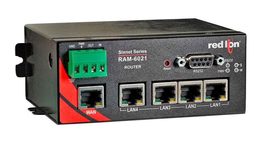 Ruter for sikker fjernoppkopling mot automatiseringsnettverk.