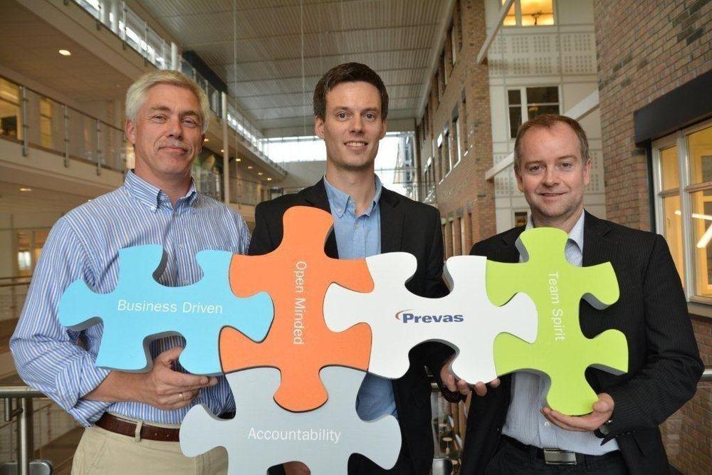 Samler alle Prevas-ansatte i Nydalen, her representert ved Lars Morten Andreassen (leder for Embedded Systems), Stian Torkildsen (leder for industriell IT) og Einar Alexander Andersen (salgssjef for vedlikeholdssystemer).