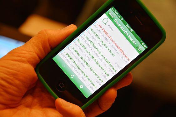 I 2014 er det duket for storsatsing på mobile plattformer for Citect Scada, her et eksempel fra et annet Schneider-produkt, Clearscada.