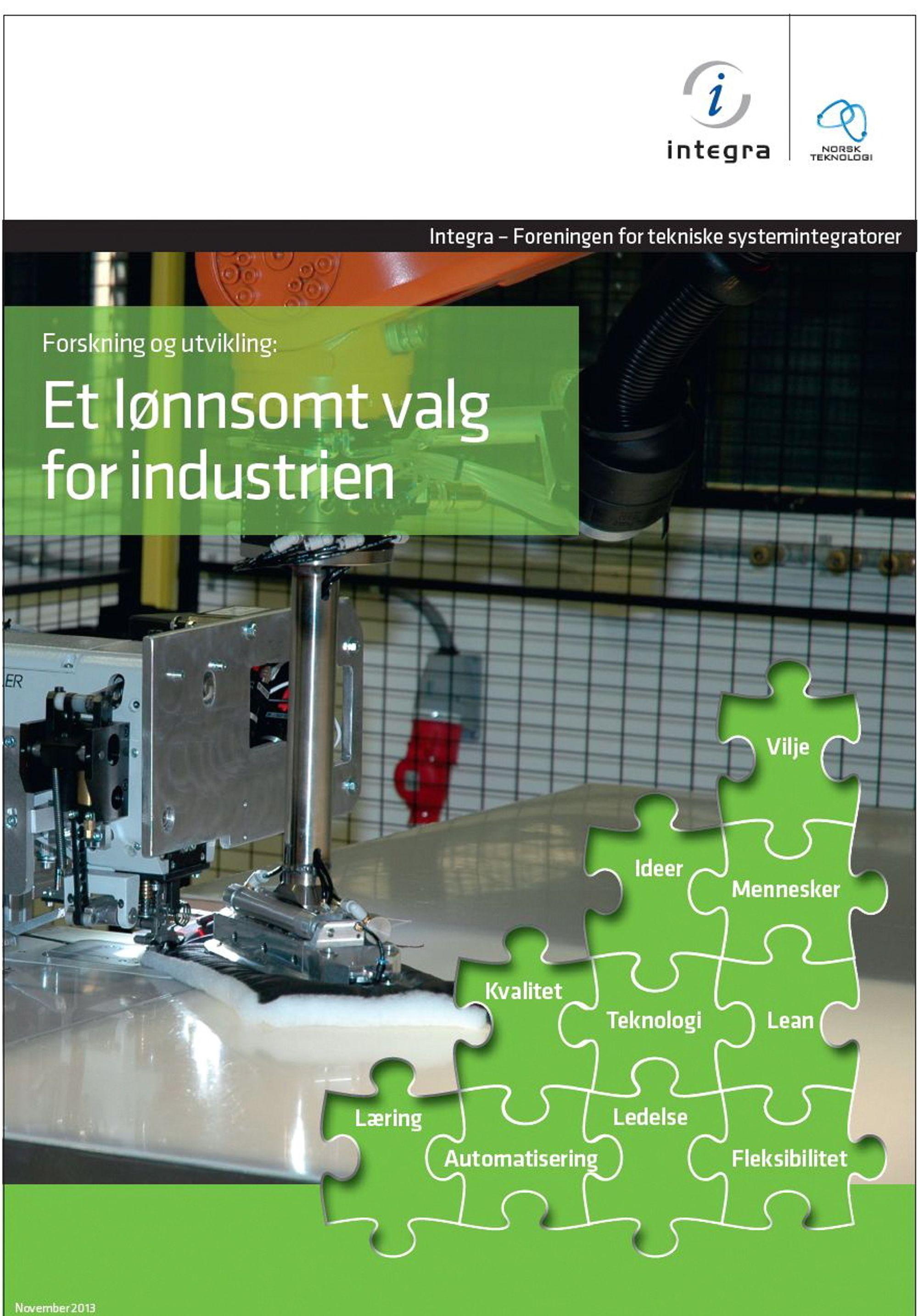 Faktaheftet byr på flere suksesshistorier fra norsk vareproduserende industri.