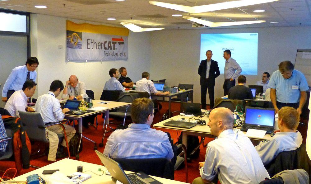 Den europeiske Ethercat Plug Fest, hvor produsenter av teknologien møtes, ble for første gang arrangert utenfor Tyskland. Omron i Nederland var vertskap.