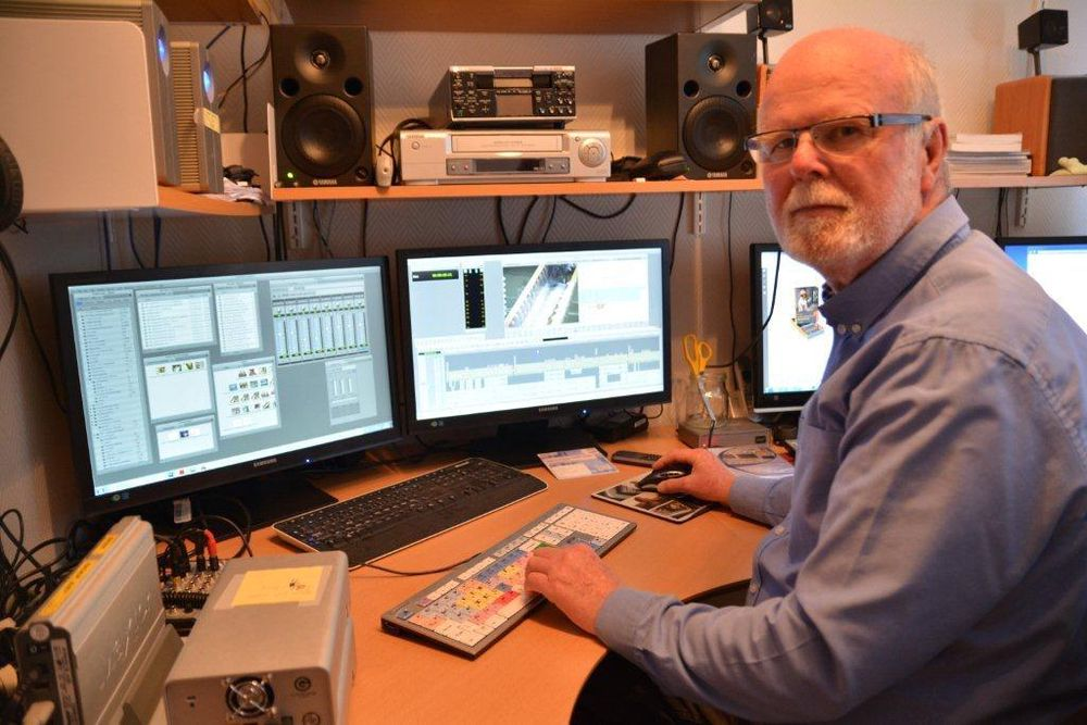 Bjørnars favorittsted er utvilsomt studioet hvor han skaper både tekst og elektroniske opplæringsressurser.