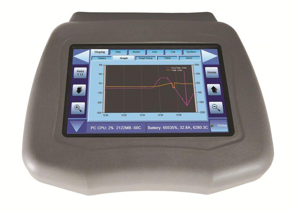 Portabel clamp-on mengdemåler for DN15 til DN3000 som kan kjøre både Doppler- eller transittidmålinger.